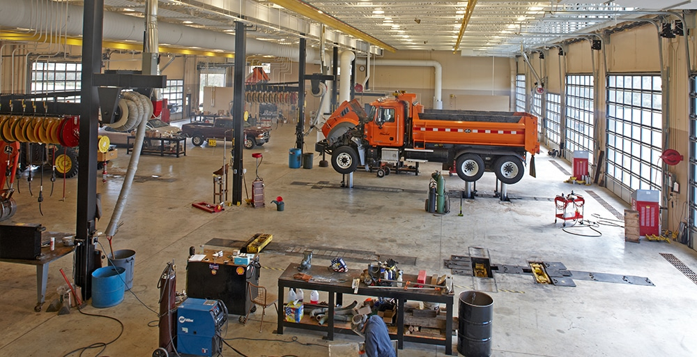 Olmstead County Public Works garage